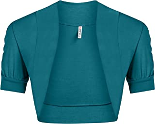 Womens Shoulder Shrugs Reg and Plus Size Ruched Short Sleeve Boleros for Dresses - Made in USA