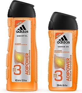 adidas Adipower Shower Gel for Men, 400 ml + 250 ml