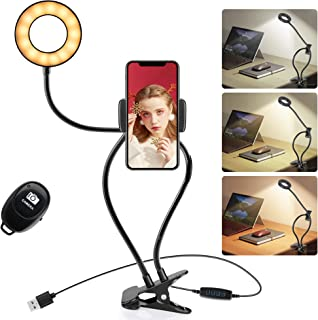 Clip on Light for Reading. Night Light for Bedroom. USB LED Portable Lamp with Remote Control, 3 Lighting Modes & 10 Brigh...