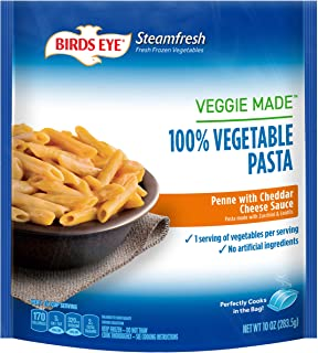 Birds Eye Steamfresh Veggie Made 100% Vegetable Pasta, Penne with Cheddar Cheese Sauce, 10 Ounce (Frozen)