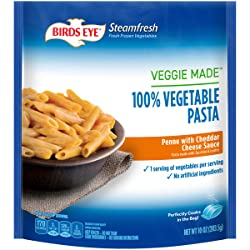 Birds Eye Steamfresh Veggie Made 100% Vegetable Pasta, Penne with Cheddar Cheese Sauce, 10 Ounce (Fr