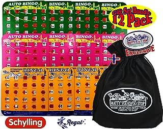 Regal Games Auto & Interstate Travel Bingo Cards Green, Orange & Pink Gift Set Bundle with Exclusive