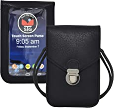 Touch Screen Purse by Lori Greiner Fits Most Smartphones – Stylish Crossbody with Shoulder Strap -RFID Keeps Cash, Credit ...