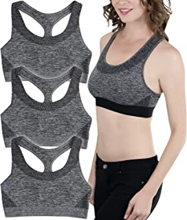 ToBeInStyle Women's Scoop Neck Racerback Padded Sports Bra