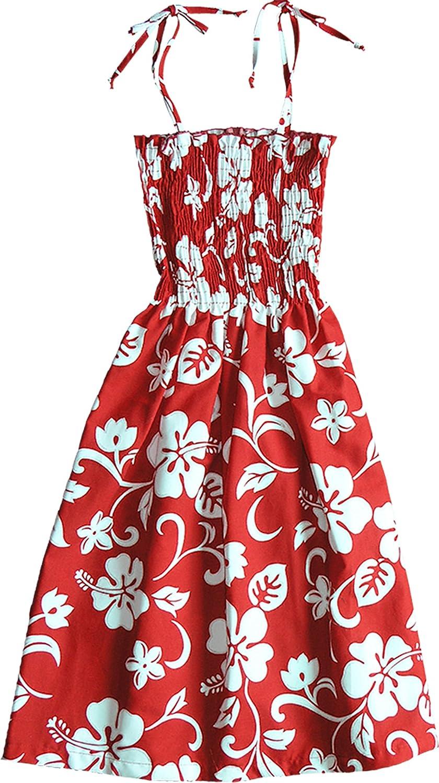 RJC Womens Classic Hibiscus Elastic Tube Top Sundress