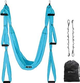 UpCircleSeven Aerial Yoga Swing Set - Ceiling Mount Accessories - Yoga Hammock Kit - Ceiling Hanging Yoga Sling - Inversio...