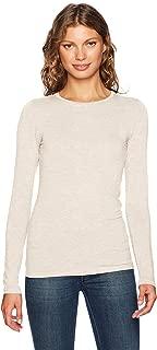 Majestic Filatures Womens H160113 Basic 34 Sleeve Scoop Neck Tee W/Flat Edge Trim T-Shirt