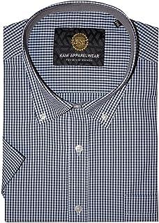 Kam Men's Big Size Smart Casual Patterned Shirts