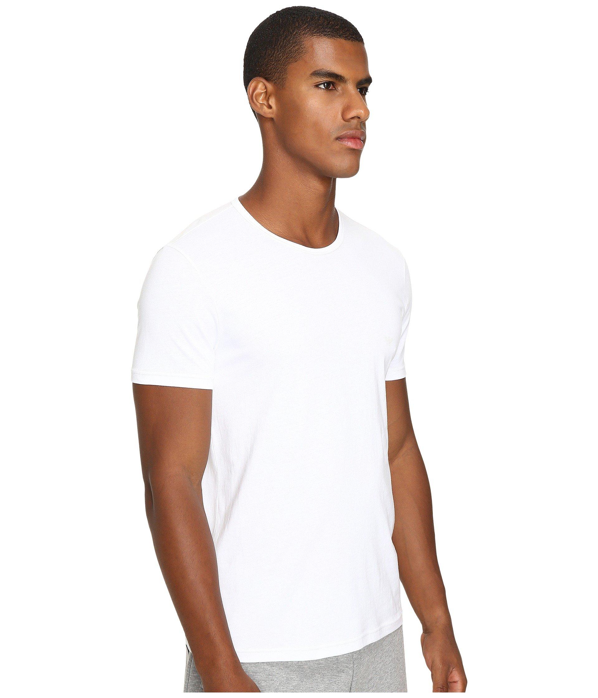 pack shirt White Neck Armani Emporio white Crew 3 white T TBqxRxOEw
