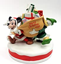 1985 Mickey Mouse & Donald Duck Collectible Porcelain Figurine ''Santa's Helpers''