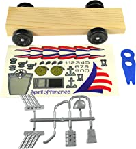Pinewood Pro Basic Derby Car Kit with BSA Wheels, BSA axles and pre-Cut pre-drilled BSA Block
