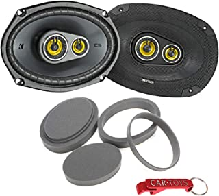 $109 » Kicker 46CSC6934 CS Series Coaxial Speakers Bundle with FAST Rings Car Audio Enhancement and Vibration Reduction Kit. 6 by...