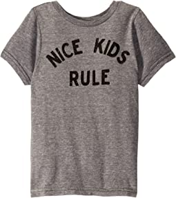 Nice Kids Rule Vintage Tri-Blend Short Sleeve Tee (Little Kids/Big Kids)
