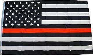 thin orange line flag