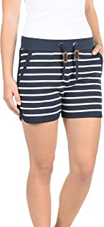 BlendShe Kira Damen Sweatshorts Bermuda Shorts Kurze Hose Mit Fleece-Innenseite Und Streifen-Muster Regular Fit