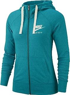 Nike Women's Sportswear Gym Vintage Full-Zip, Spirit Teal/Sail, Size Medium