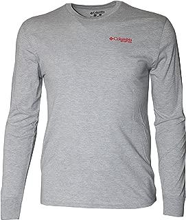 Columbia Men's Merlot Long Sleeve Shirt Top Tee PFG
