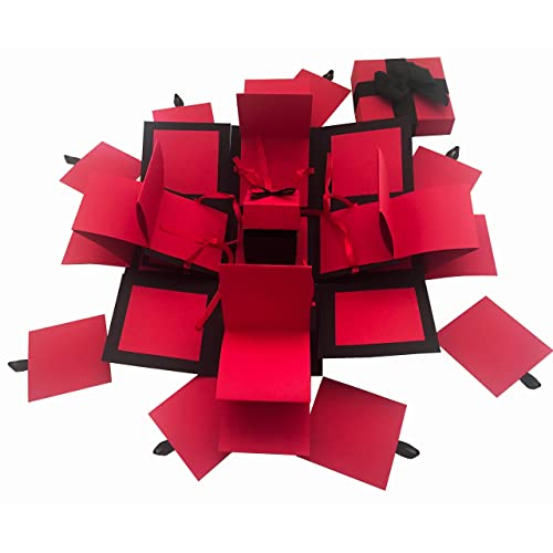 1e18fba6fce2 Crack of Dawn Crafts 3 Layered All Occasion Explosion Box - Red Drama