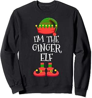 I'M THE Ginger ELF Christmas Xmas Funny Elf Group Costume Sweatshirt