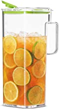 Komax Large Water Pitcher with Lid | 77-oz (2.4-quart) Water Carafe | Iced Tea Pitcher Suitable for Water, Tea, Juice, Lem...