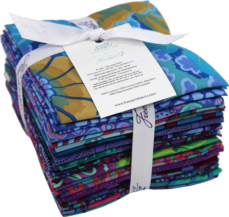 Free Spirit Fabrics Max 75% OFF Kaffe Fassett Peacock Tucson Mall 20 Fat Quarters