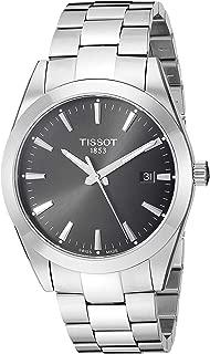 Mens Gentleman Swiss Quartz Stainless Steel Dress Watch (Model: T1274101105100)