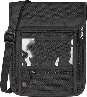MEKO スキミング防止 首下げパスポートケース RFID 貴重品入れ 7ポケット セキュリティーポーチ 多機能 パスポートポーチ 防水 軽量 チケット入れ 旅行用品 海外旅行