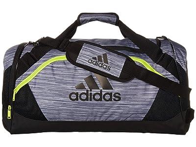 adidas Team Issue II Medium Duffel (Onix Looper/Semi Solar Slime/Black) Duffel Bags