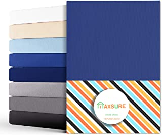 Maxsure Drap Housse 160×200, Housse de Matelas 160×200×30 100% Coton Peigné Haute Qualité avec Elastiques, Certifié Öko-Te...