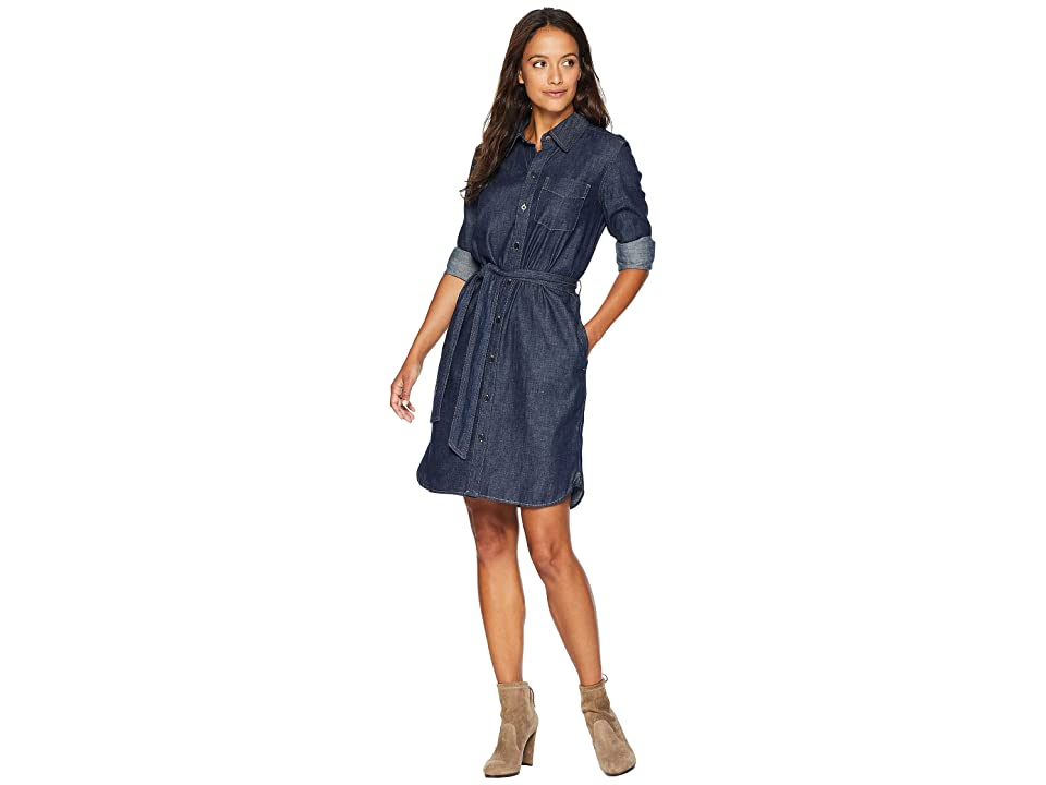 LAUREN Ralph Lauren Petite Denim Shirtdress (Pure Rinse Wash) Women