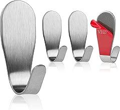 Max 8Kg Badmantelhacken Wandhaken Klebehaken ohne Bohren EniBon 5 Stk Selbstklebend-Handtuchhaken Handtuchhalter