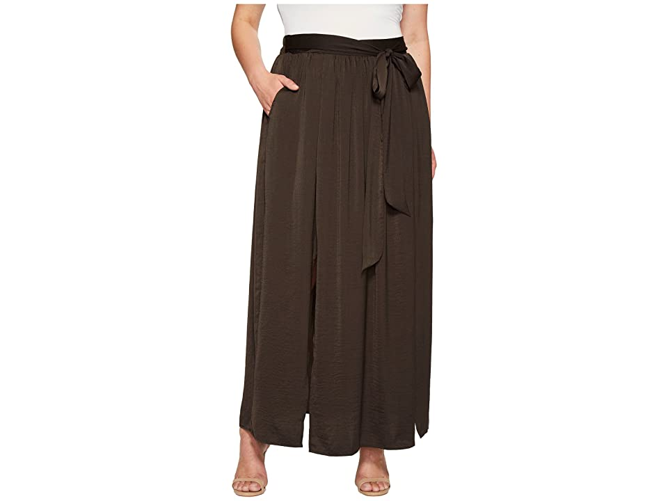 B Collection by Bobeau Plus Size Rosemary Maxi Skirt (Charcoal Grey) Women