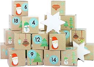 comprar comparacion Papierdrachen Juego de Cajas para Calendario de Adviento DIY – 24 Cajas de Colores para exponer y Rellenar – 24 Cajas - Sa...