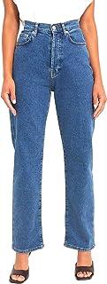 NA-KD Straight High Waist Jeans Femme
