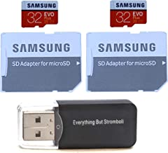 Samsung Evo Plus GB MicroSD Memory Card (2 Pack) Works with GoPro Hero 8 Black (Hero8), Max 360 UHS-I, U1, Speed Class 10, (MB-MC) With (1) Everything But Stromboli (TM) TF Card Reader (32GB Class 10)