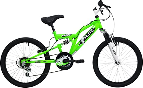 servicio honesto Flite Boy's Turbo 6-speed Junior Full Suspension Bike Bike Bike - blanco verde, 13   artículos de promoción