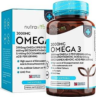 Omega 3 (2000 mg) - 660 mg de EPA y 440 mg de DHA - Omega 3