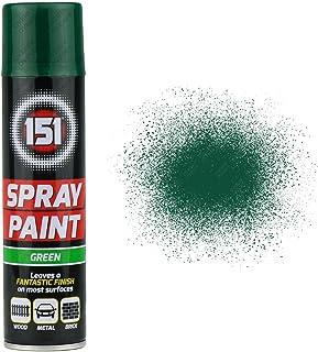 1 x 250ml 151 Green Gloss Aerosol Paint Spray Cars Wood Metal Walls Graffiti