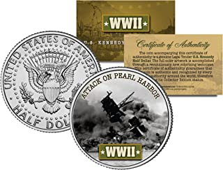 World War II ATTACK ON PEARL HARBOR JFK Kennedy Half Dollar US Coin