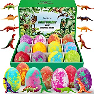 Bath Bombs for Kids with Toys Inside for Girls Boys - Surprise Colorful Eggs Set of 12 Bubble Bath Fizzies, Gentle and Kid...