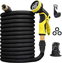 Aterod 75 feet Expandable Garden Hose, Extra Strength Fabric, Flexible Expanding Water Hose with 9 Function Spray Nozzle