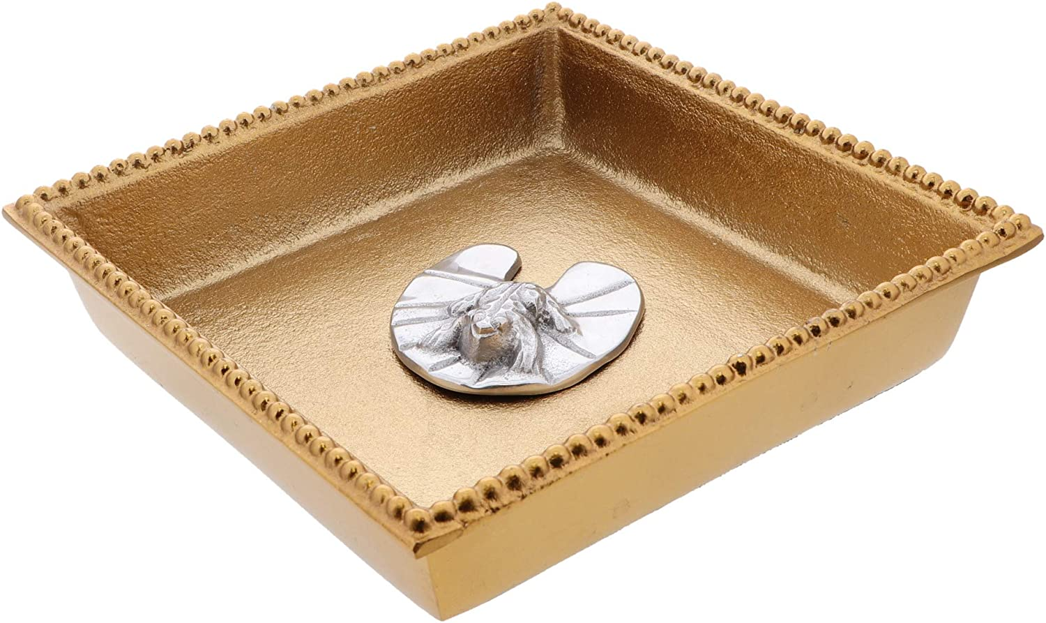Napkin Holder Manufacturer direct delivery Set 2021 new Gold Beaded Edge Lunch a Metal Box Flat