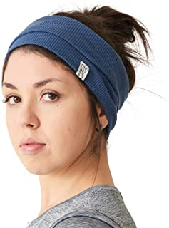 Mens Wide Headband 100% Cotton Womens Yoga Hairband Sports Fashion Made in Japan