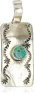 قلادة 180 دولار من النيكل المعتمد الطبيعي فيروزي نافاجو الأمريكي الأصلي 13167-3 مصنوعة من قبل لوما سيفا