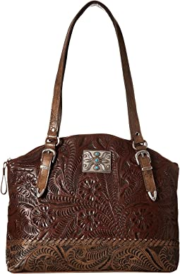 American West - Annie's Secret Zip Top Half Moon Tote w/ Secret Compartment