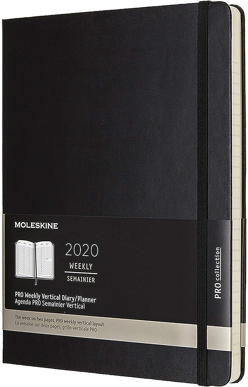 資料不平を言うはずMoleskine PRO 12 Month 2020 Weekly Planner, Hard Cover, XL (7.5
