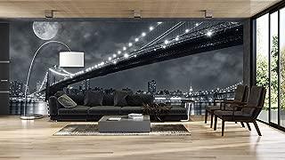 Fotomural Vinilo Vista Nocturna Nueva York en blanco y negro | Fotomurales | Fotomural pared | Fotomural Decorativo | Vinilo Decorativo | Varias Medidas 150x100cm | Para la decoración de comedores, salones | Motivos Paisajisticos | Urbes, Naturaleza, Arte | Multicolor | Diseño Elegante