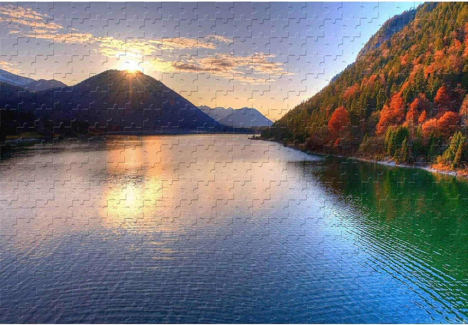 Classic Puzzle of The Rising Max 51% OFF and Between Sun S shop Mountains