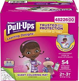 Huggies Pull Ups Learning Designs Big Pack,  2T-3T Girl,  54 Count,  Packaging May Vary