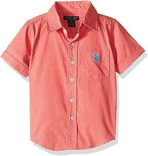 U.S. Polo Assn. Boys' Short Sleeve Striped Woven Shirt